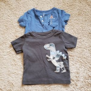 Lot of 2 Baby Boy Shirts